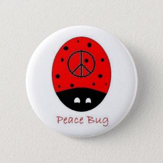 Bóton Redondo 5.08cm branco do botão do inseto da paz