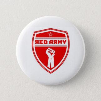 Bóton Redondo 5.08cm Branco do crachá do hóquei do exército vermelho