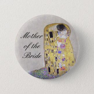 """Bóton Redondo 5.08cm """"Branco do tema do casamento de Nouveau da arte de"""