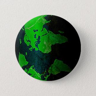 Bóton Redondo 5.08cm Brilho Styl do verde da geografia da terra de