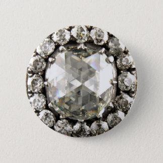 Bóton Redondo 5.08cm Broche da bijutaria do vintage do cristal de rocha