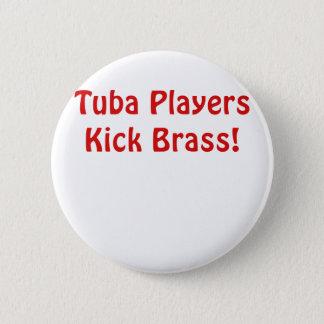 Bóton Redondo 5.08cm Bronze do pontapé dos jogadores da tuba