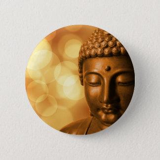 Bóton Redondo 5.08cm Buddha dourado