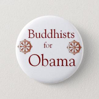 Bóton Redondo 5.08cm Budistas para Obama 2012