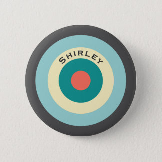 Bóton Redondo 5.08cm Bullseye cinzento da combinação por Shirley Taylor