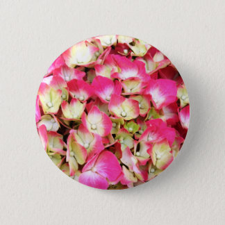 Bóton Redondo 5.08cm Buquê cor-de-rosa do Hydrangea