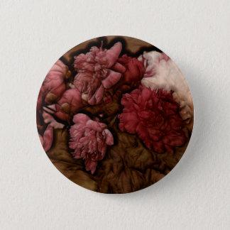 Bóton Redondo 5.08cm Buquê da flor da peônia do Bordéus