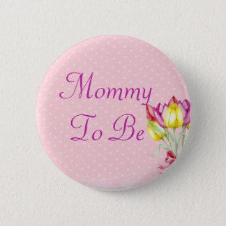 Bóton Redondo 5.08cm Buquê floral cor-de-rosa SEU uma mamã da MENINA a