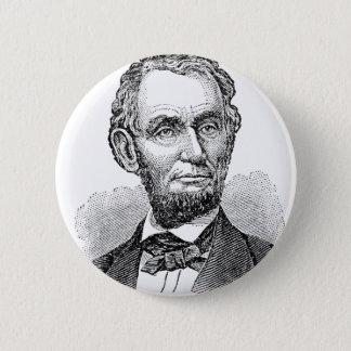 Bóton Redondo 5.08cm Busto de Abe Lincoln do vintage