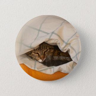 Bóton Redondo 5.08cm Button com gato na almofada