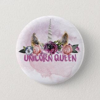 Bóton Redondo 5.08cm Button Unicorn Queen