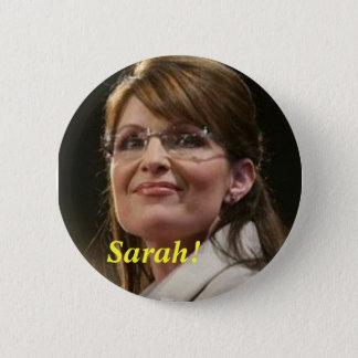 Bóton Redondo 5.08cm CA Sarah! Botão político