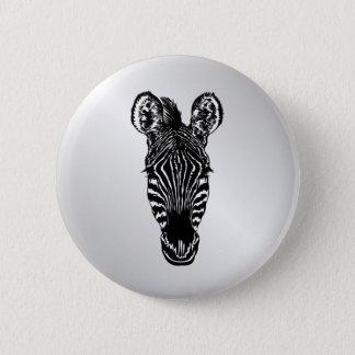 Bóton Redondo 5.08cm Cabeça da zebra