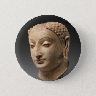 Bóton Redondo 5.08cm Cabeça de Buddha - 5o-6o século