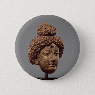 Bóton Redondo 5.08cm Cabeça de um Buddha ou de um Bodhisattva