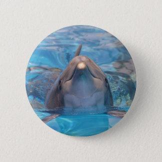 Bóton Redondo 5.08cm Cabeça do golfinho de bottlenose