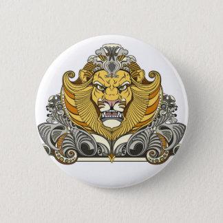 Bóton Redondo 5.08cm cabeça do leão