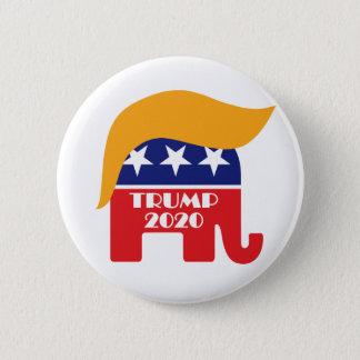 Bóton Redondo 5.08cm cabelo 2020 do elefante do GOP do presidente