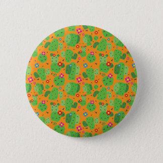 Bóton Redondo 5.08cm Cacto mim botão da parte externa (alaranjada) -