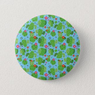 Bóton Redondo 5.08cm Cacto mim botão da parte externa (azul) -