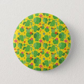 Bóton Redondo 5.08cm Cacto mim parte externa (amarelo) - botão