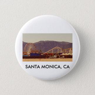 Bóton Redondo 5.08cm Cais de Santa Monica - Pin