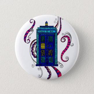 Bóton Redondo 5.08cm Caixa azul - crachá do botão com design da caixa