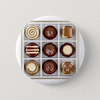 Bóton Redondo 5.08cm Caixa com doces de chocolate