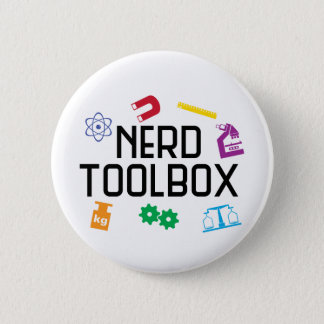 Bóton Redondo 5.08cm Caixa de ferramentas do nerd