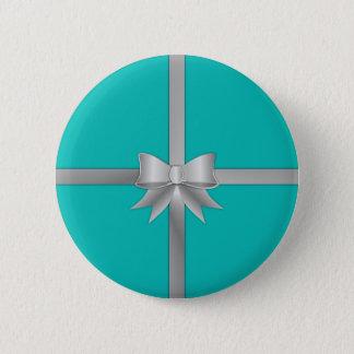 Bóton Redondo 5.08cm Caixa de presente azul