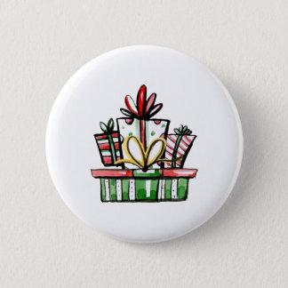 Bóton Redondo 5.08cm Caixa de presente decorativa do ano novo do Natal