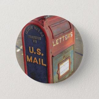 Bóton Redondo 5.08cm Caixa postal velha