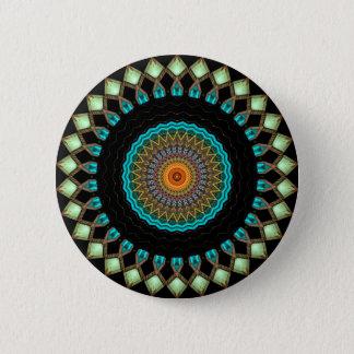 Bóton Redondo 5.08cm Caleidoscópio no botão de Turkmenistan [edição da