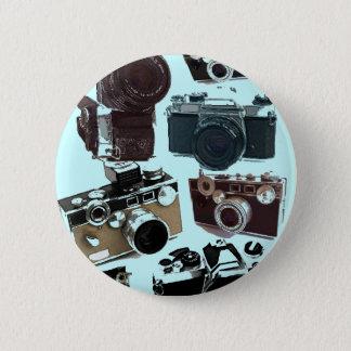 Bóton Redondo 5.08cm Câmera do vintage da fotografia do fotógrafo do