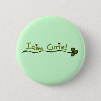 Bóton Redondo 5.08cm Camiseta e presentes de Cutie do irlandês