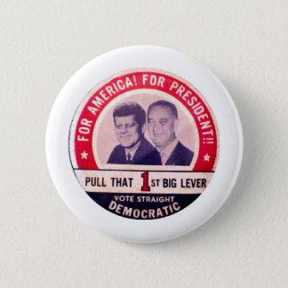 Bóton Redondo 5.08cm Campanha de Kennedy e de Johnson