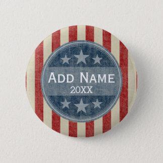 Bóton Redondo 5.08cm Campanha politica - bandeira dos Estados Unidos do