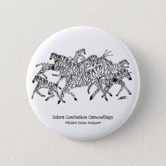 Bóton Redondo 5.08cm Camuflagem da confusão da zebra - botão