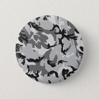 Bóton Redondo 5.08cm Camuflagem do preto do branco cinzento