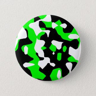 Bóton Redondo 5.08cm Camuflagem verde retro do tigre 80s de Corey