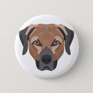 Bóton Redondo 5.08cm Cão Brown Labrador da ilustração