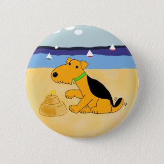 Bóton Redondo 5.08cm Cão de Airedale Terrier dos desenhos animados no