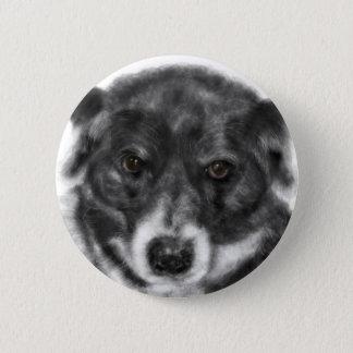 Bóton Redondo 5.08cm Cão preto e branco