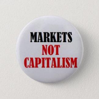 Bóton Redondo 5.08cm Capitalismo dos mercados não