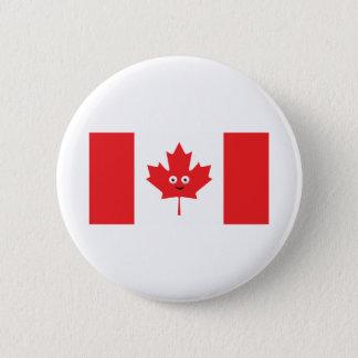 Bóton Redondo 5.08cm Cara canadense da folha de bordo