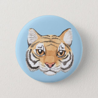 Bóton Redondo 5.08cm Cara do tigre