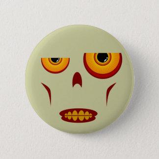 Bóton Redondo 5.08cm Cara do zombi - botão apertado dos dentes