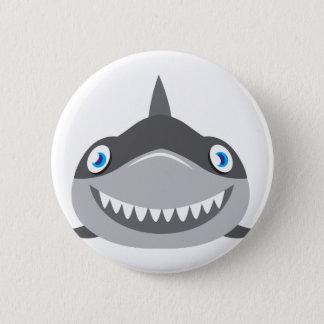 Bóton Redondo 5.08cm cara feliz bonito do tubarão