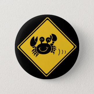 Bóton Redondo 5.08cm Caranguejos da atenção (1), sinal de tráfego,