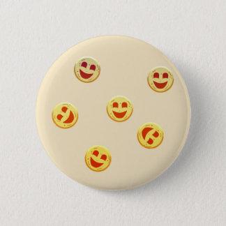 Bóton Redondo 5.08cm caras felizes dos biscoitos
